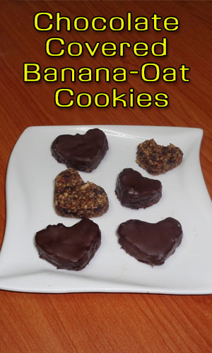 Chocolate-Covered Banana-Oat Cookies