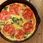 Tomato, Spinach and Basil Frittata
