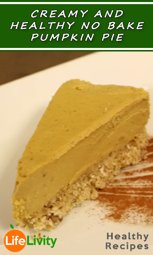 Creamy and Healthy No Bake Pumpkin Pie